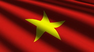 Vietnam flag close up Stock Footage