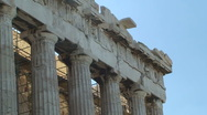 Athens Parthenon Front Frieze Stock Footage
