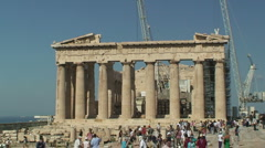 Athens Parthenon Front Stock Footage