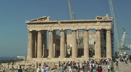 Stock Video Footage of Athens Parthenon Front