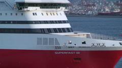 Superfast Ship Pireaus Greece Stock Footage