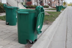 Recycling bins. Stock Footage