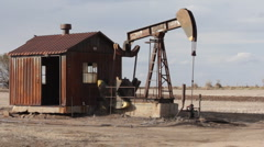 Oil Pump Shack Stock Footage