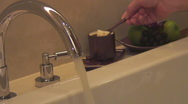 Stock Video Footage of shot sequence: luxurious bathtub fills with water