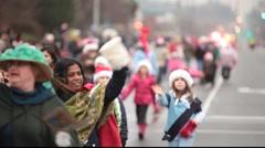 Santa Claus parade Stock Footage