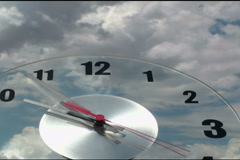 Clock Passing Time NTSC  Stock Footage