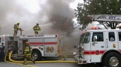 Seminole house fire #3 Stock Footage