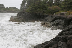Rocky shoreline. Stormy ocean. SD. Stock Footage