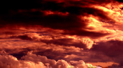 Dramatic clouds 02 - stock footage