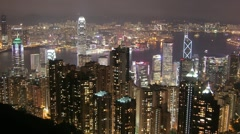 Hong Kong Peak View Stock Footage