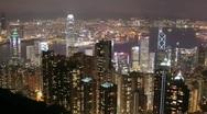 Stock Video Footage of Hong Kong Peak View