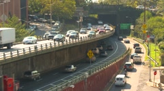 New York City, Brooklyn Queens expressway traffic - stock footage
