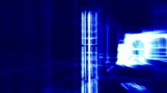 Interior of modern room 3d - stock footage