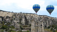 Cappadocia turkey nature baloon fly fairy chimney miracle holiday tourism 2 Stock Footage