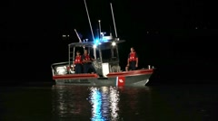 Coast Guard Boat At Night #2 - stock footage
