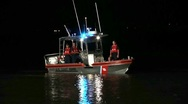 Stock Video Footage of Coast Guard Boat At Night #2