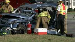 Accident scene #4 - stock footage
