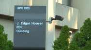 Stock Video Footage of Wash DC, FBI building 2 shot