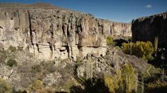 Ihlara valley cappadocia turkey nature fairy chimney miracle holiday tourism  Stock Footage