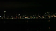 Seattle Skyline Across the Puget Sound Stock Footage