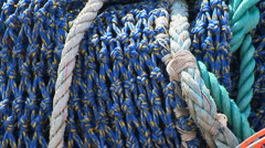Commercial fishing equipment Stock Footage