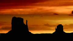 Monument valley dusk Stock Footage