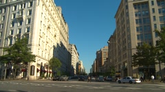Wash DC, morning traffic Pennsylvania ave, #3 Stock Footage