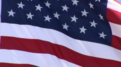 U.S. Flag - stock footage