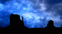 Monument valley rainy clouds Stock Footage