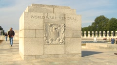 American Icons #39  Wash DC, WWII monument Stock Footage