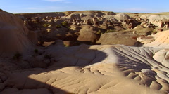 Hoodoos in Bisti Badlands Stock Footage