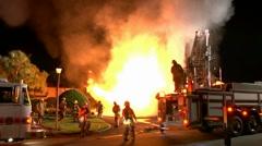 Carport fire 9 Stock Footage