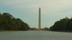American Icons #37 Wash DC, Wash Monument and pool med Stock Footage