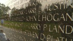 American Icons #16 Vietnam vet Monument the wall ecu reveal down Stock Footage