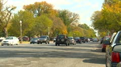 US Politics - Wash DC, traffic on Constitution Ave Stock Footage
