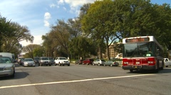 US Politics - Wash DC, pan traffic on Constitution Ave Stock Footage