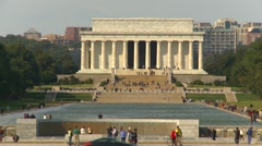 American Icons #26 Wash DC, Lincoln Monument zoom Stock Footage