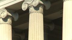 US Politics - Wash DC,  treasury building zoom Stock Footage