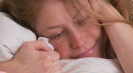 Stock Video Footage of Woman portrait in bed