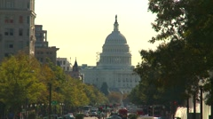 Stock Video Footage of US Politics - Wash DC, Capitol hill looking down Pennsylvania ave