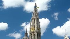 Antwerpen - Kathedrale Stock Footage