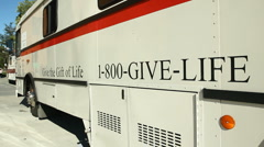 American Red Cross Trailer 02 Stock Footage