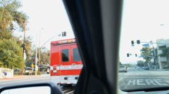Fire Truck - Paramedic - LAFD Stock Footage