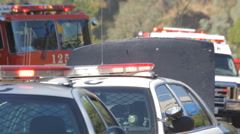 Emergency Response Vehicles 01 Stock Footage