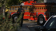 Scene of an Accident - Responders and Onlookers Stock Footage