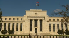 US Politics - Wash DC, Federal Reserve Board no traffic Stock Footage
