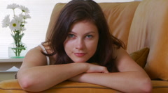 Young woman casual portrait with arms crossed Stock Footage