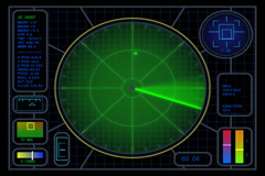 Radar_MiddleBlip(720x480) - stock footage