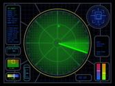 Radar_MiddleBlip(720x480) Stock Footage
