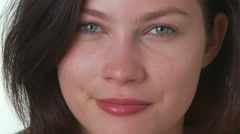 Portrait of young woman making silly faces Stock Footage